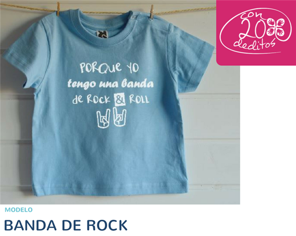 "Camiseta ""BANDA DE ROCK"""
